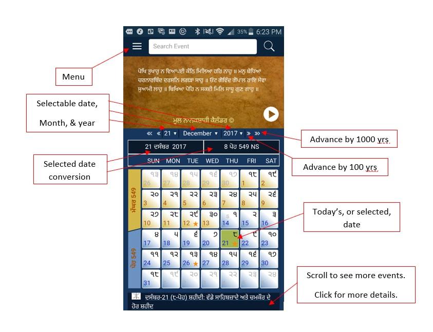 Nanakshahi calendar app_inner