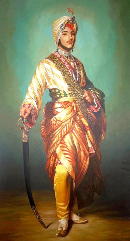 Original painting of The Black Prince