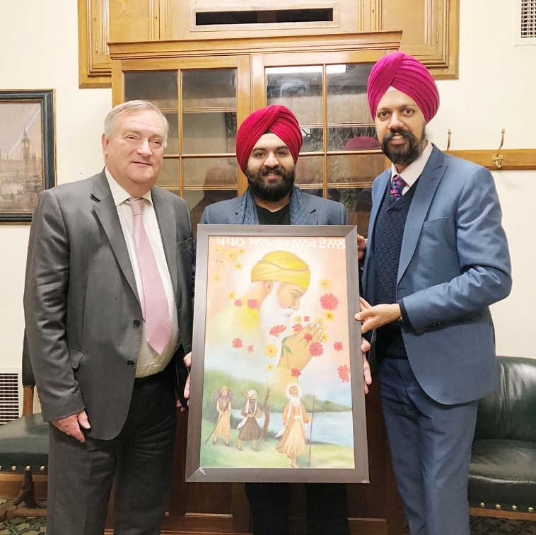 Kukreja with Britain's Sikh MP Tan Dhesi